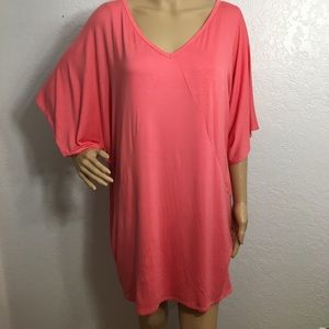 Trina Turk Coral/Peach Dolman Sleeve Dress/Tunic